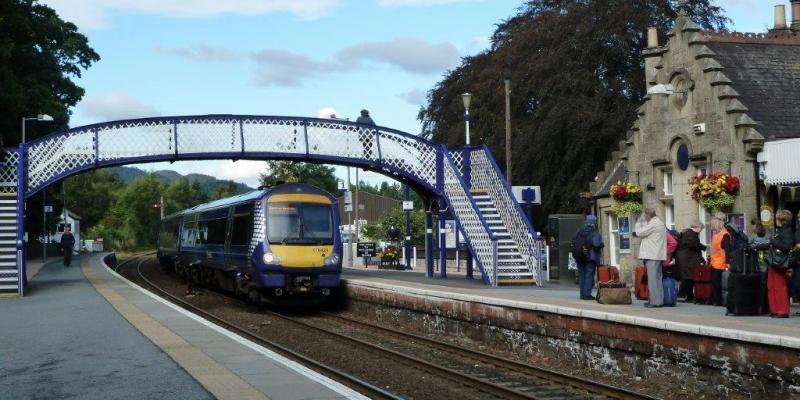 Pitlochry Railway Station along the Highland Line. Scotland.