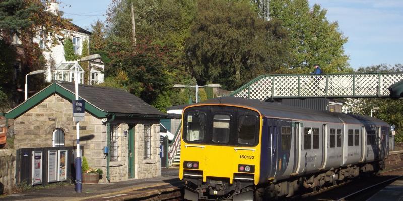 Train at Whaley Bridge Station along the Buxton Line