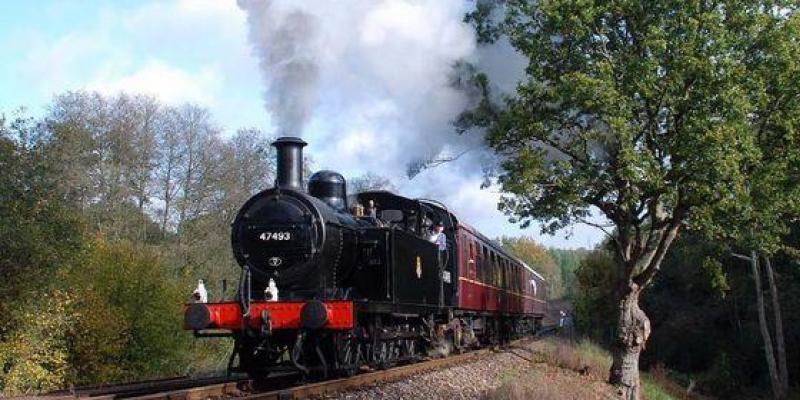 Steam train Spa Valley heritage railway