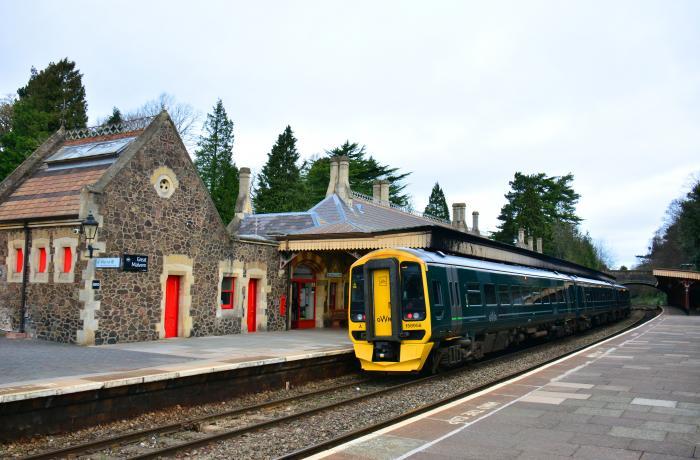 Train stood at Great Malvern Railway Station