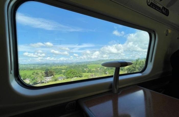 Interview with Andy B Travels for Days Out By Rail. Photo: West Coast Main Line north of Lancaster