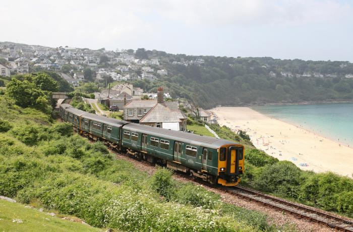 Carbis Bay on the St Ives Bay Line