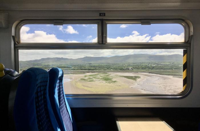 Views of Fells from on board Cumbrian Coast Line perfect for Days Out by Rail