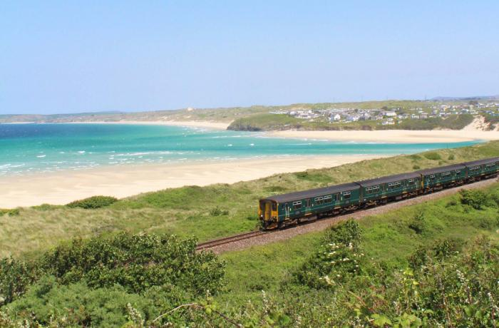 GWR train on the St Ives Bay Line