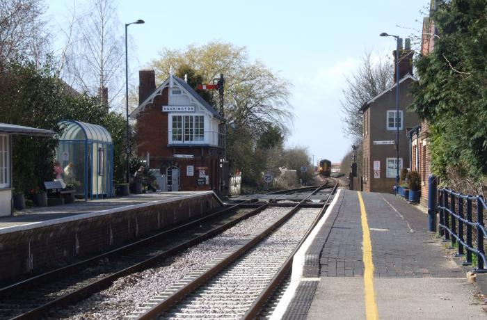 Heckington Railway Station along the Poacher Line. Midlands UK.